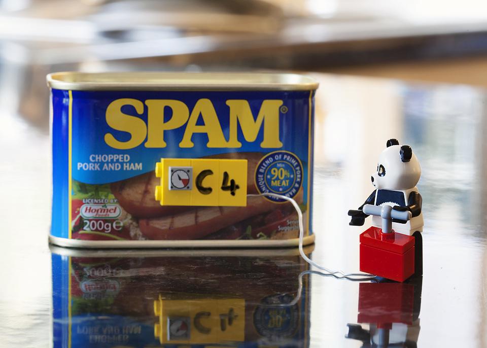 Pandas hate spam
