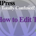 How to edit text in WordPress